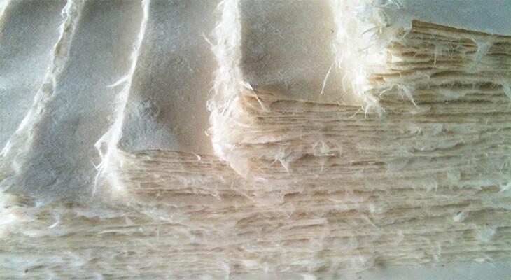 受注生産による和紙製作